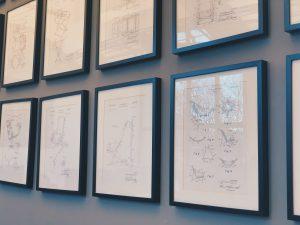 Rahmen auf dem Wand Interior Design Dudenstrasse 10 Coworking Space Berlin